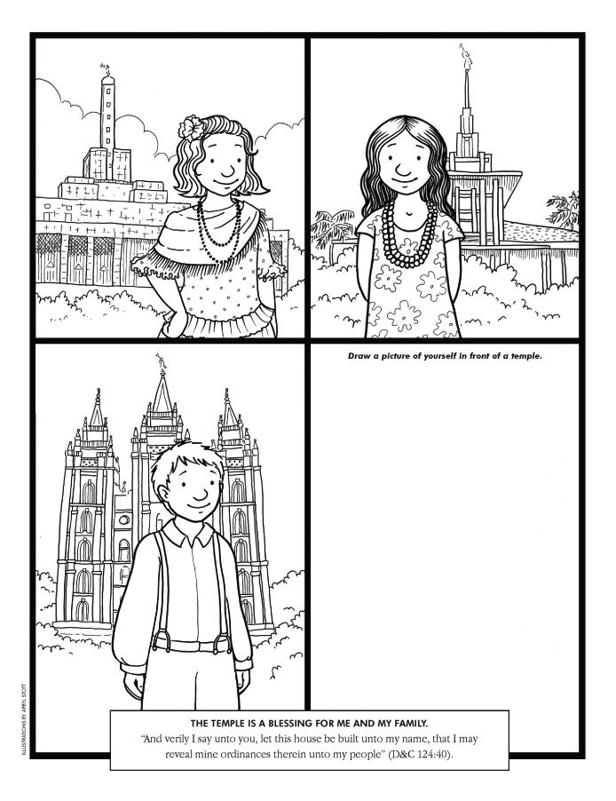 Temple Coloring Page -Lesson 26:Families Can Be Together Forever ...