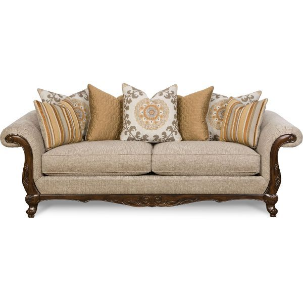 Page Rc Willey: Churchill 100 Inch Pebble Upholstered Sofa