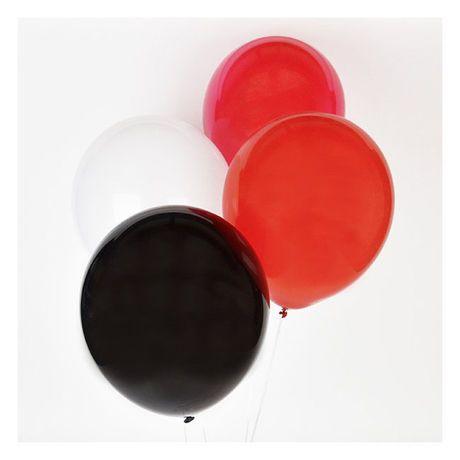 Ilmapallolajitelma, punainen, valkoinen, musta