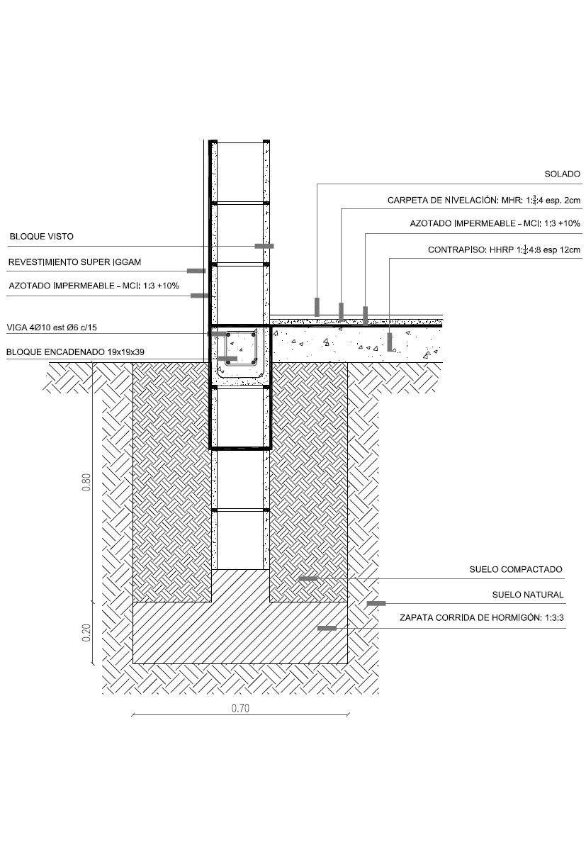 3143640e06e Detalla cimentación zapata corrida para bloques de cemento. Quizás también  le interese: