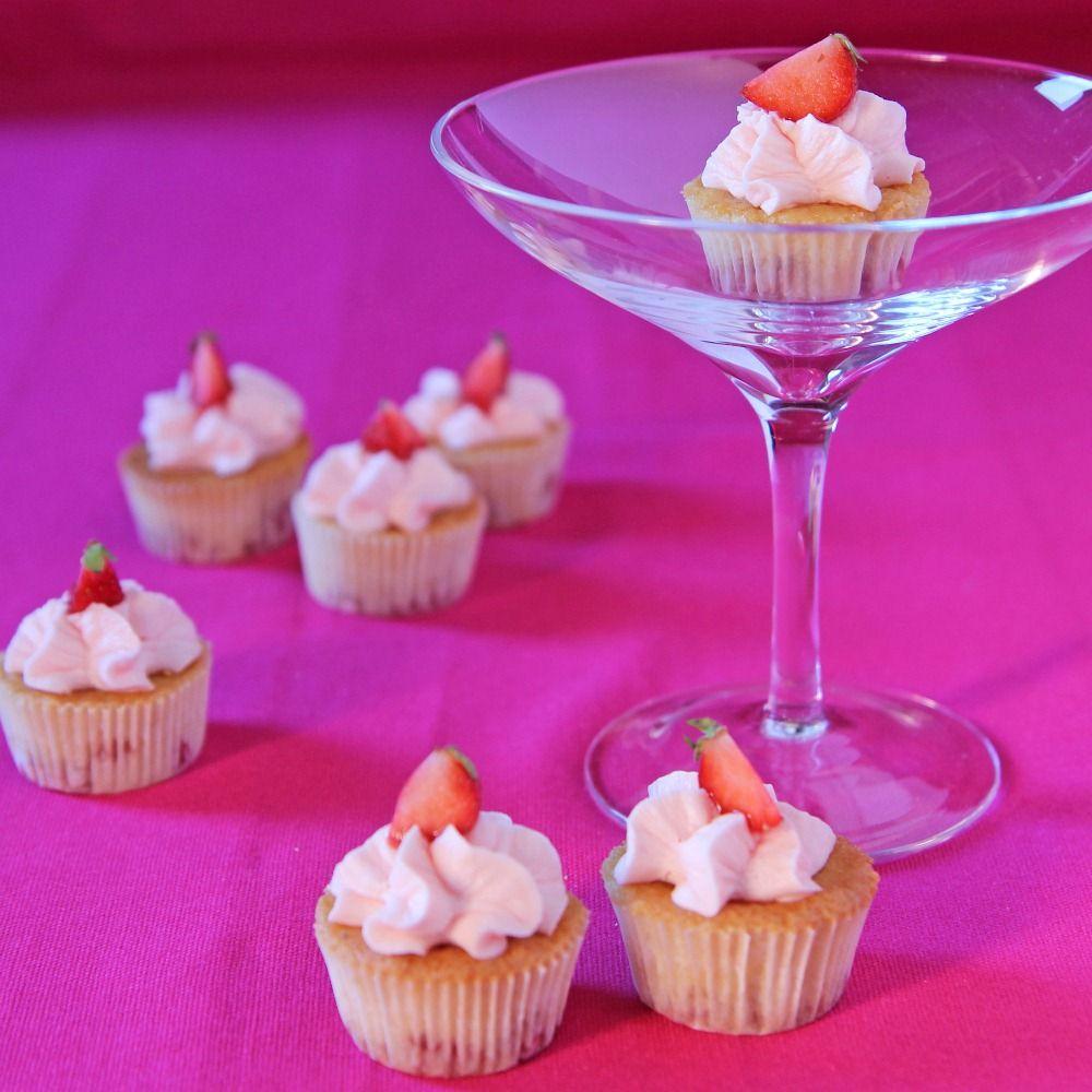 Strawberry flavoured fairy cakes recipe