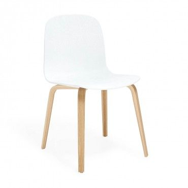 Muuto White Visu Chair Wood Frame 377 On Sale ABC Dining Room