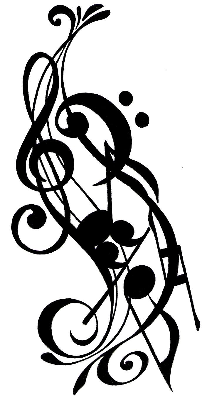 music notes this provides me some ideas for my next piece of body