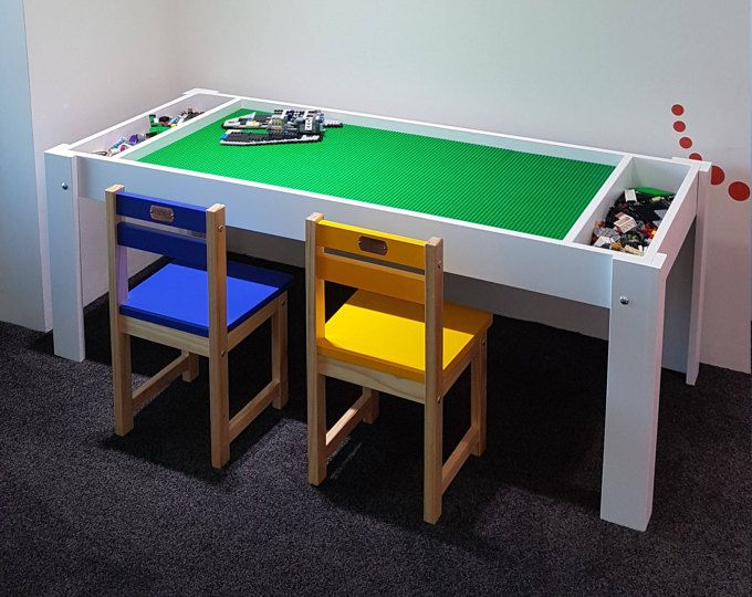 Lego Table With Storage Building Blocks Table Activity
