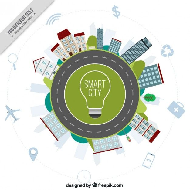 Download Smart City Background With Buildings And Road For Free Smart City City Background City Design