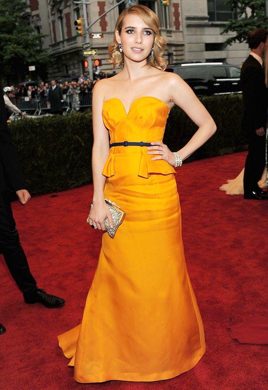 Marigold Emma Roberts In Escada Metgala Strapless Dress Formal Escada Dress Fabulous Clothes