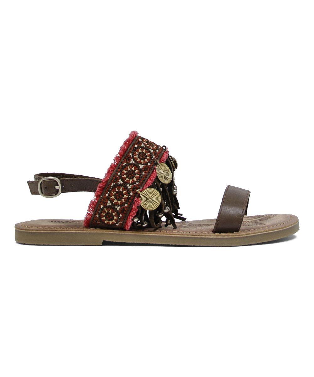 9ec9afbf2617 Brown Maeba Leather Sandal