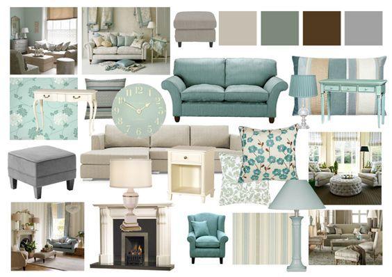 Duck Egg And Grey Living Room Mood Boards By Amy Farrar Via Behance