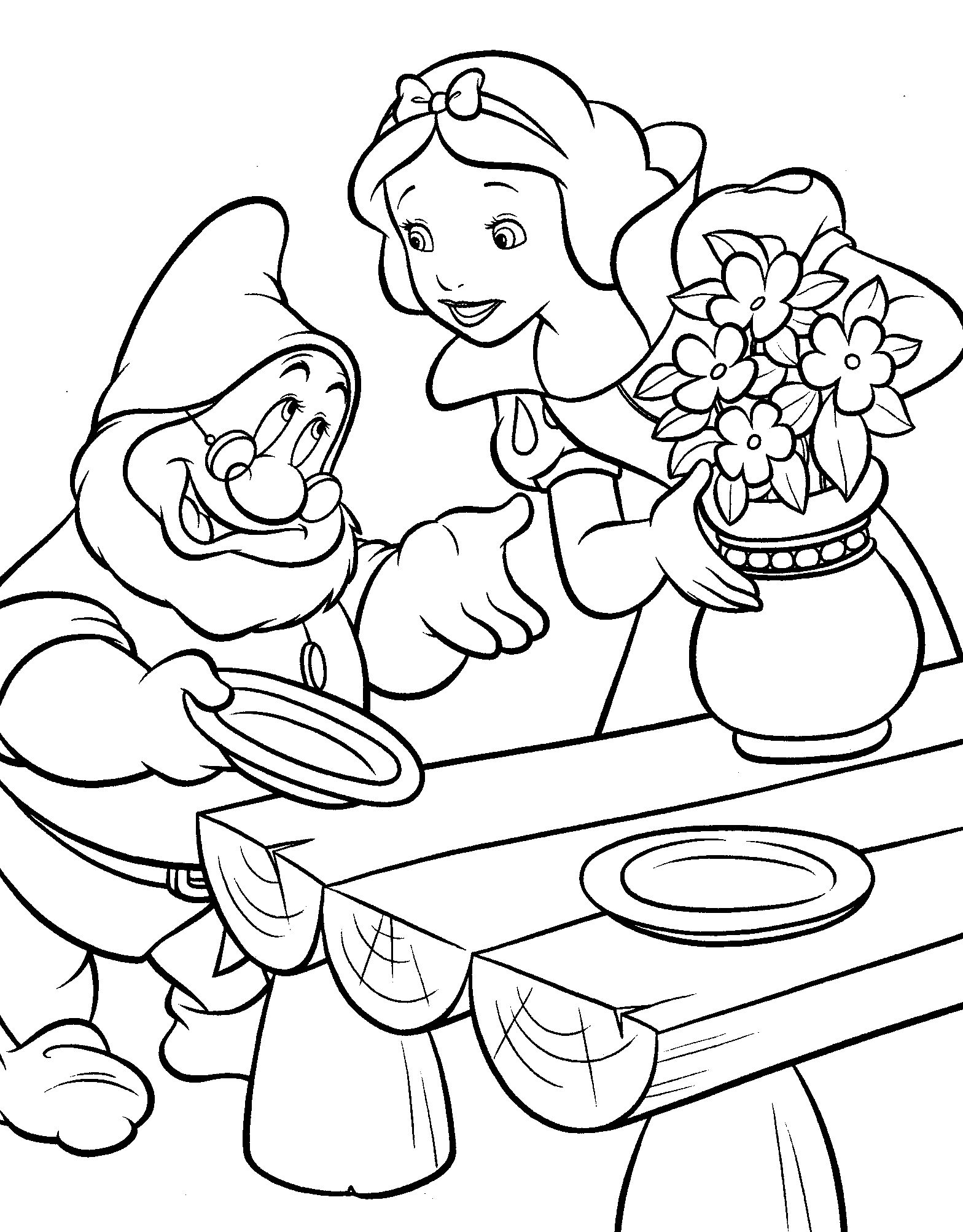 Snow White Ask For Food Coloring Pages For Kids F1z Printable Snow White Coloring Pages For Kids Prinses Kleurplaatjes Kleurboek Sneeuwwitje