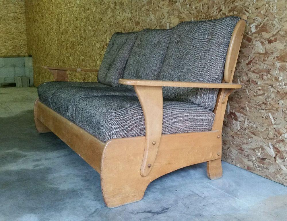 Vintage 1950s Early American Revival Mid Century Wood Danish