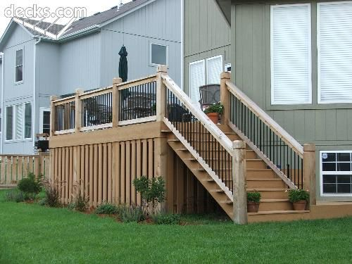 Mid Elevation Deck With The Under Deck Concealed By Vertical