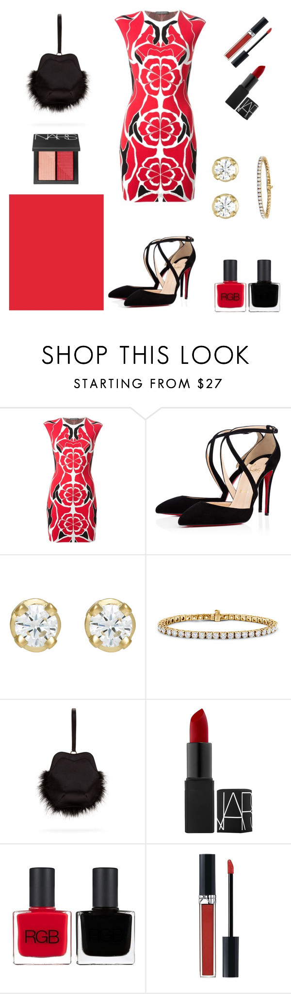 """Red Represent Enthusiasm"" by weijin ❤ liked on Polyvore featuring Alexander McQueen, Hoorsenbuhs, Blue Nile, Simone Rocha, RGB, Christian Dior and NARS Cosmetics"
