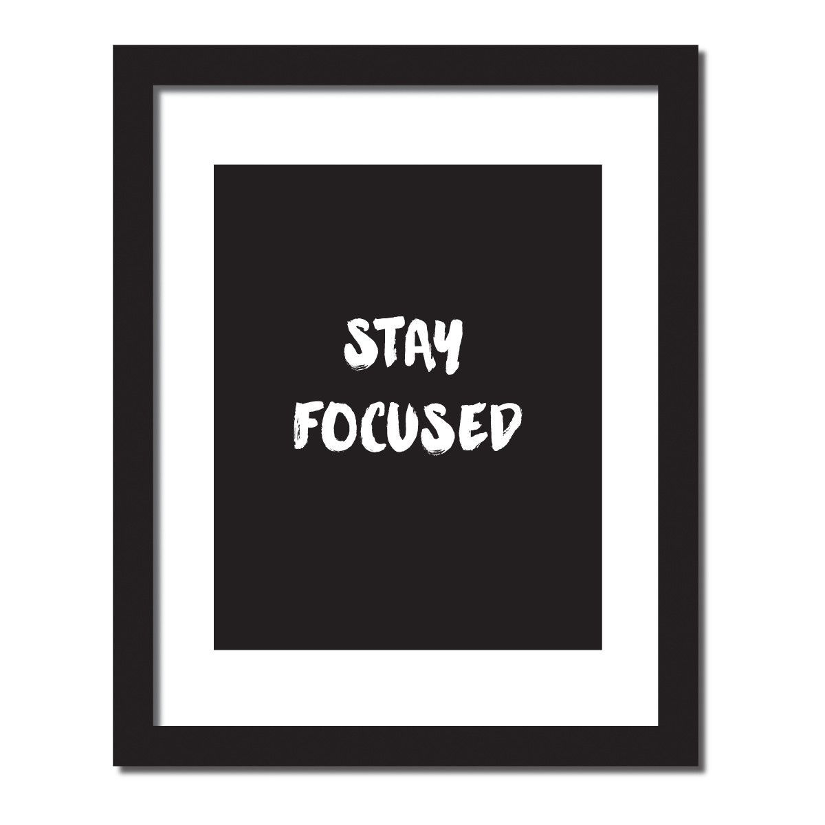 Stay Focused Quotes Inspirational Quote Print 'stay Focused'  Inspirational Making