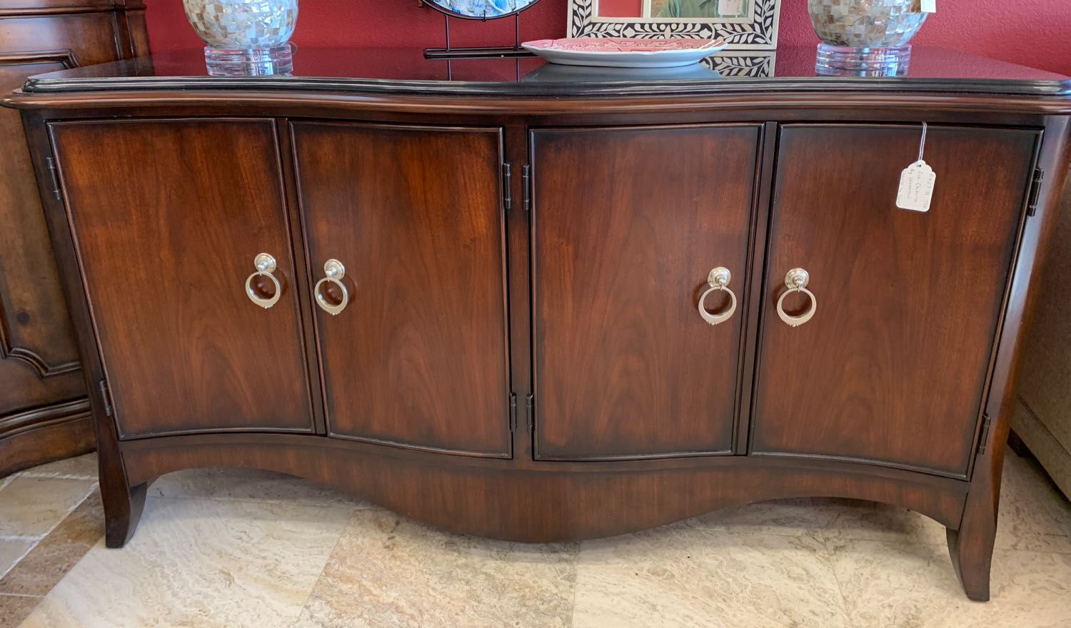 Buffet Designed By Liz Claiborne And Made By Lexington The Generous Sideboard Has A Curvaceous Front And Wea Furniture Home Decor Trends Consignment Furniture