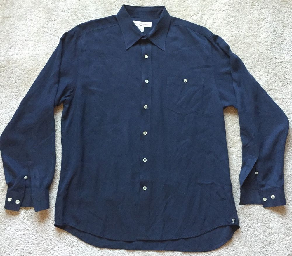 4110e2095b80e Mens Black Silk Shirts Long Sleeve