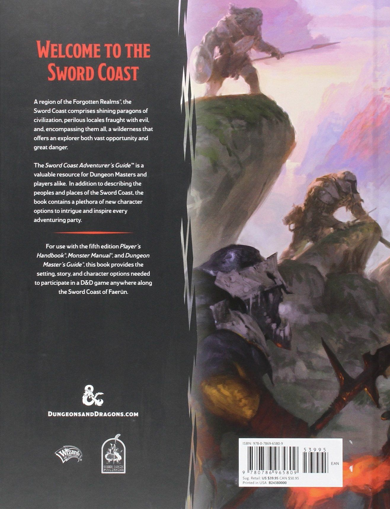 Sword Coast Adventurer's Guide - back | Book cover and interior art for  Dungeons and Dragons Next (5.0) - Dungeons & Dragons, D&D, DND, 5.0, 5th  Edition, ...
