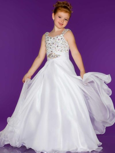 3236113eb Another image of Sugar by Mac Duggal 42784S Girls Chiffon Pageant ...