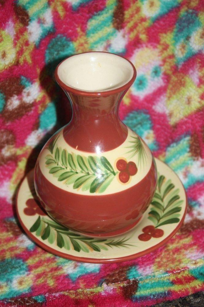 Southern Living Christmas Memories Vase And Plate Gail Pittman VHTF  #SouthernLivingatHome