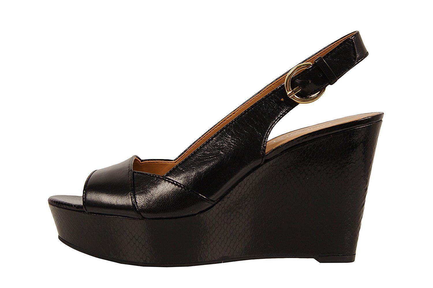 Nine West Women's Caballo Leather Wedge Sandal * You can get additional details at the image link.