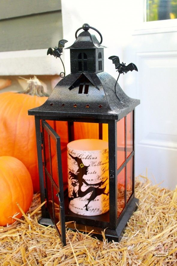 pier 1 halloween lantern with witch led candle sweetopia - Pier 1 Halloween