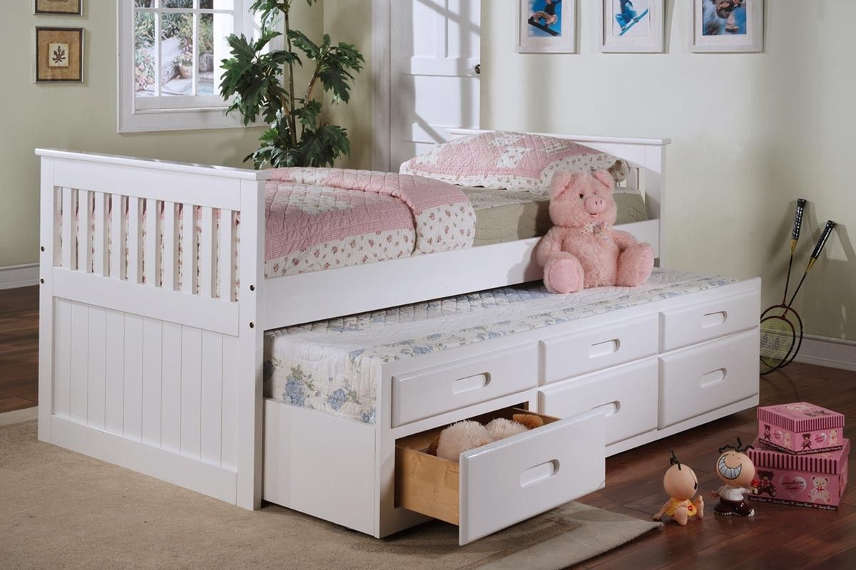 Try Out A Trundle Bed Daybed With Storage White Trundle Bed