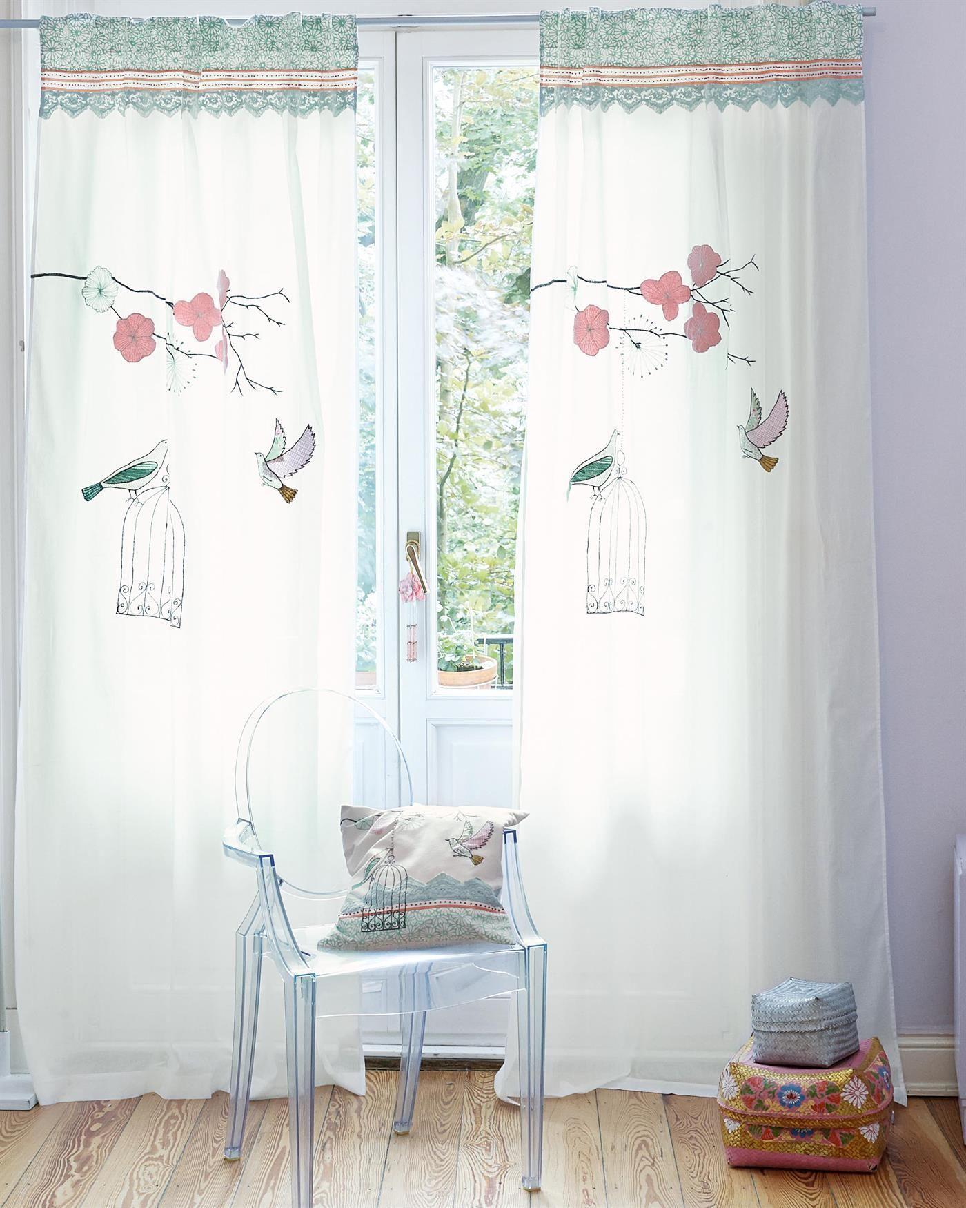 Vorhang Birdsong exclusiv für Sie auf >> Vossberg.de | Kinderzimmer ...