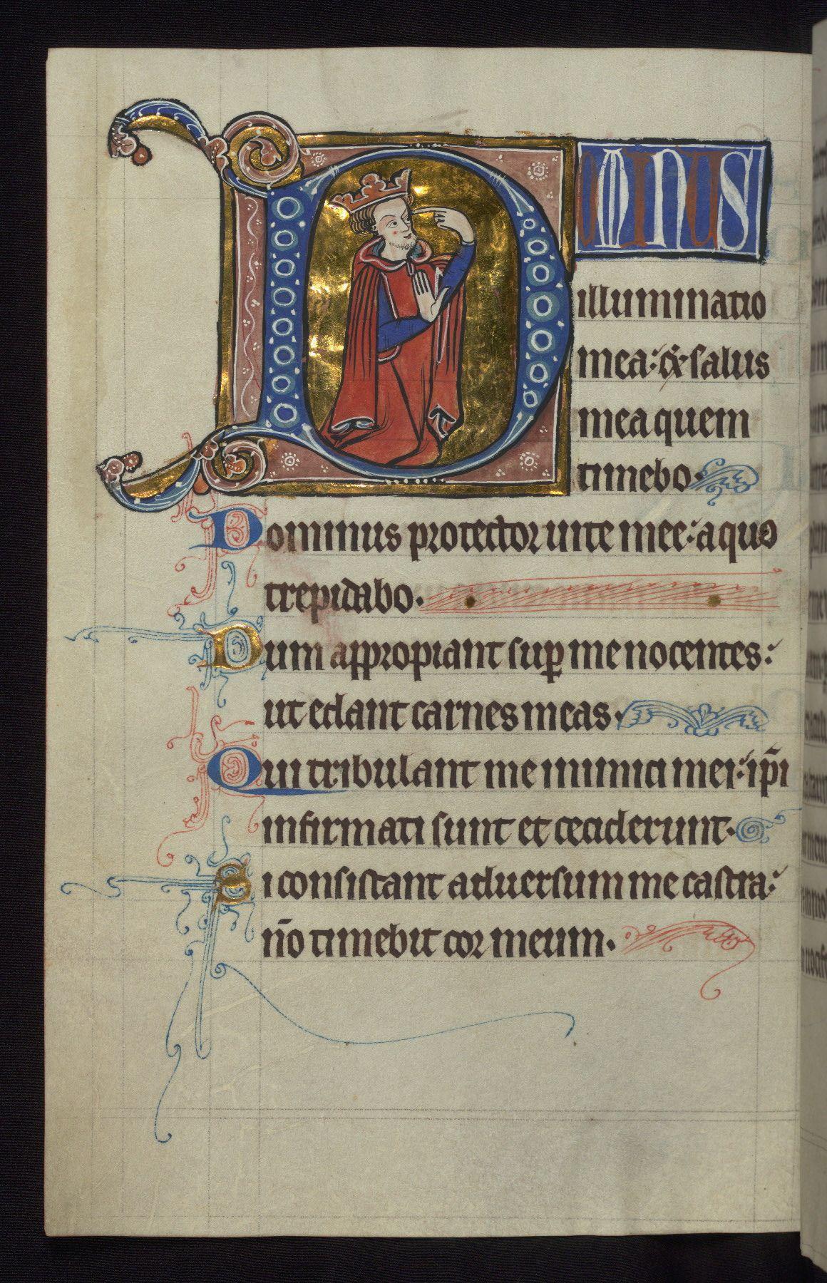 Carrow Psalter Walters Ms. W.34; Anglie 1240-1260; f. 74v