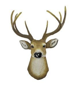 """I love the look of taxidermy heads, but the kids (and I) would rather not have a """"real"""" head coming out of the wall... so I think I'll create a huge painting instead.  :) Stay tuned!"""