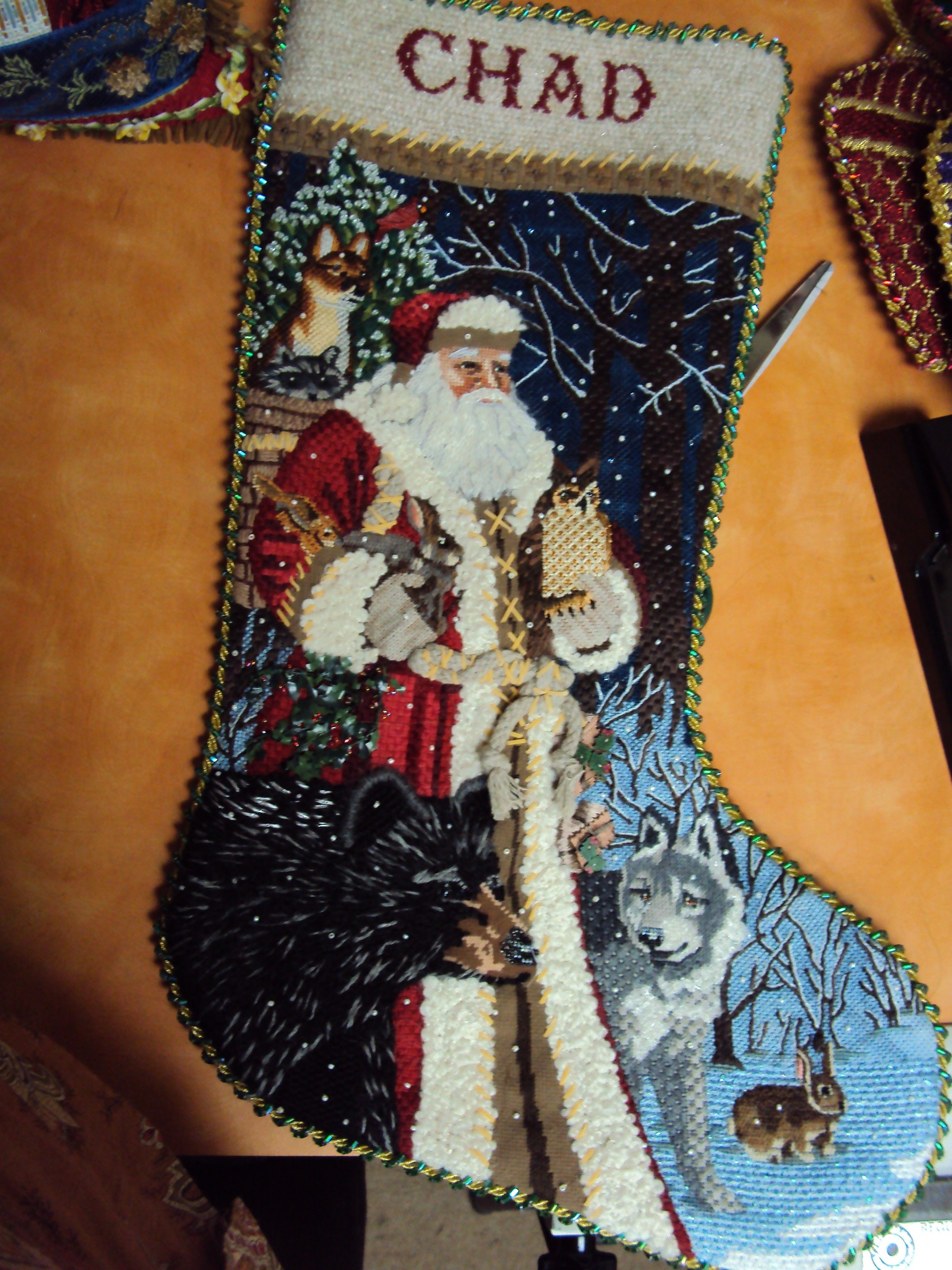 tapestry tent needlepoint christmas stockings | ... Hollee C.  did this stocking & tapestry tent needlepoint christmas stockings | ... Hollee C ...