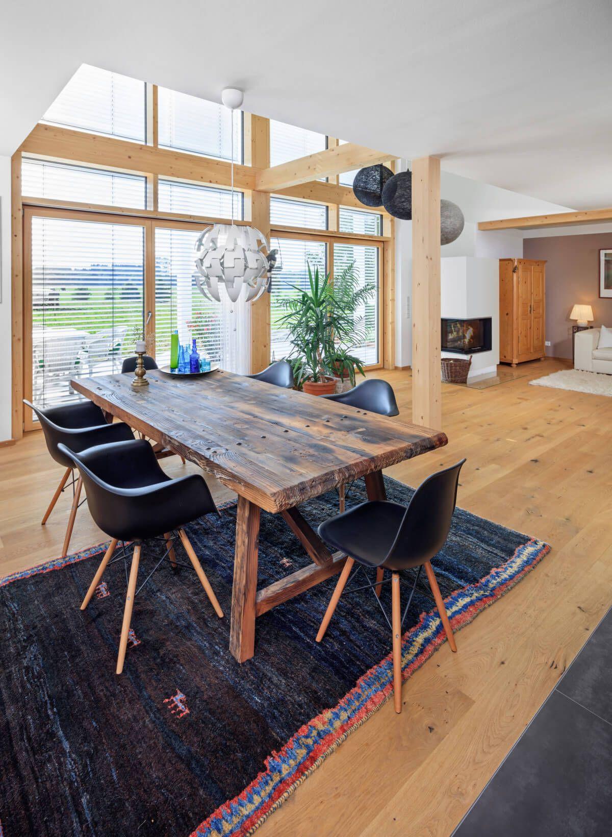 Wunderbar Holz Anbau Haus Beste Wahl Esszimmer Mit Galerie & Esstisch - Inneneinrichtung