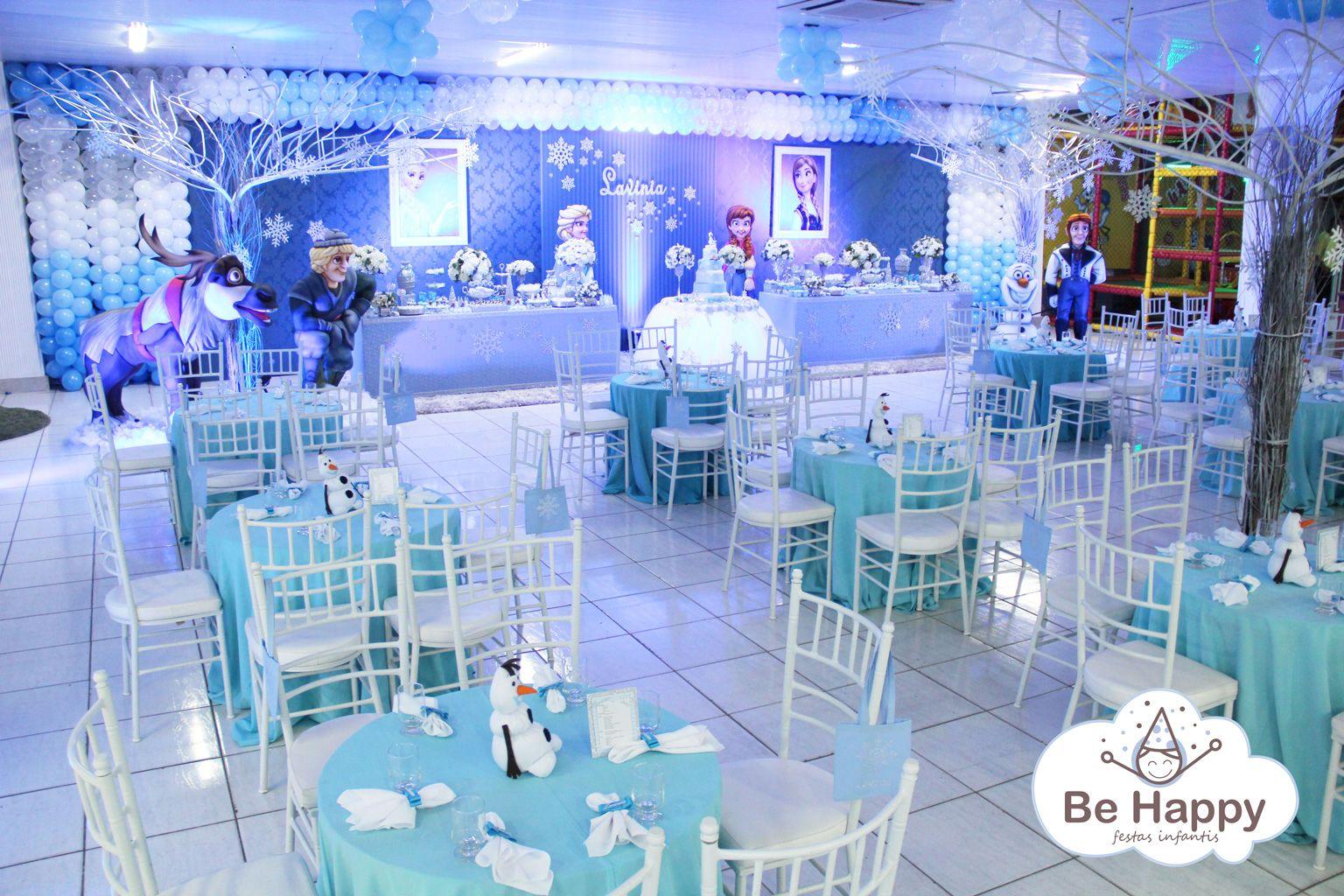 Decoração Frozen O Salão E As Mesas Dos Convidados Festa Em 2019