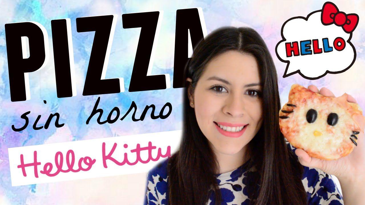 Pizza sin horno de Hello Kitty ..Fácil y deliciosa ♡ | Karen Rios                                                                                                                                                                                 Más