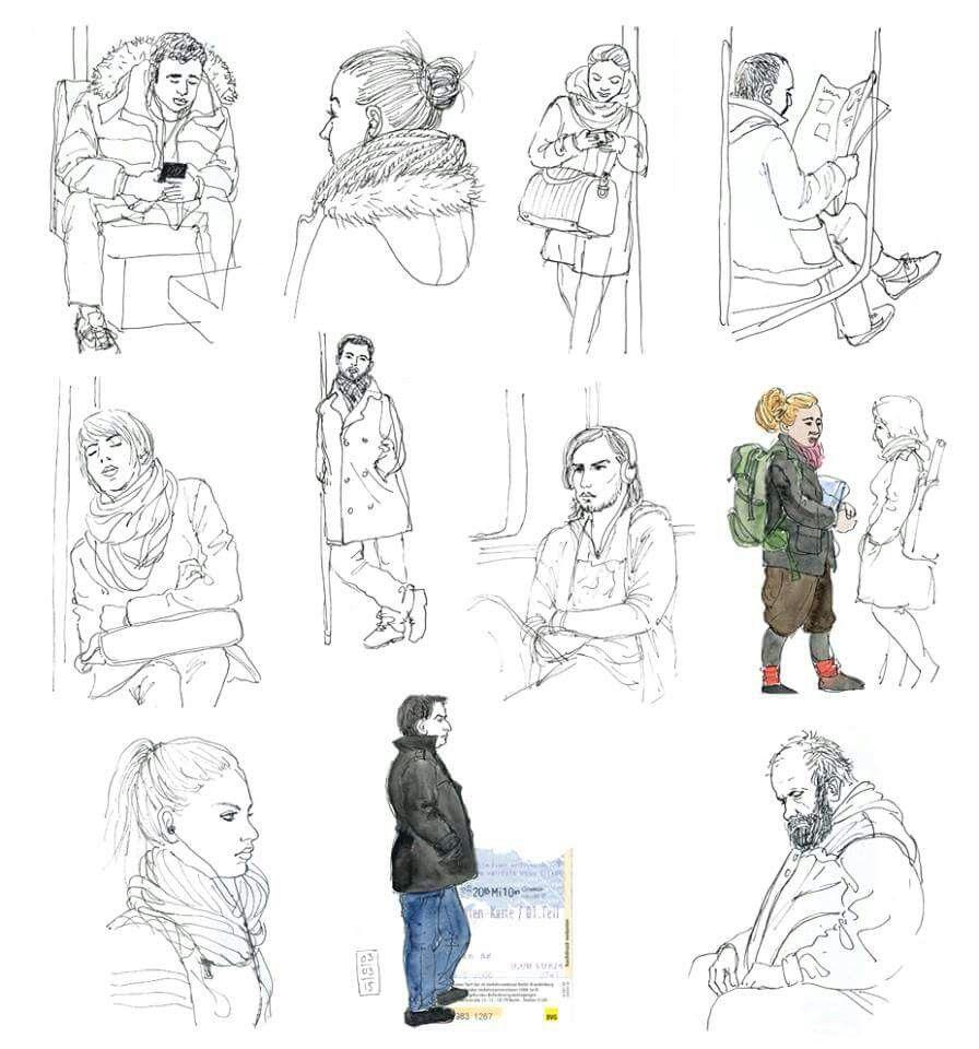 Katrin Mehrle - People in Underground train