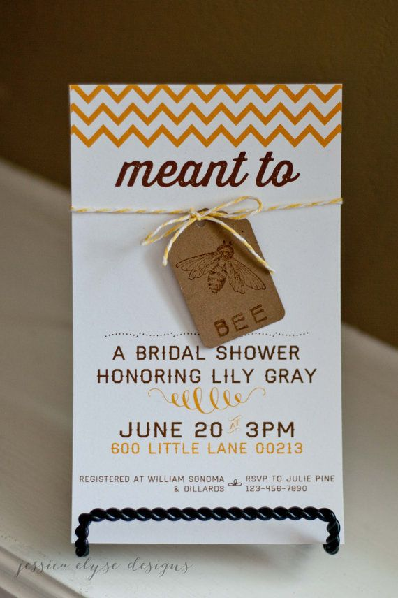 bee bridal shower invitation vintage meant to bee wedding shower invites etsy by little1paperie on etsy