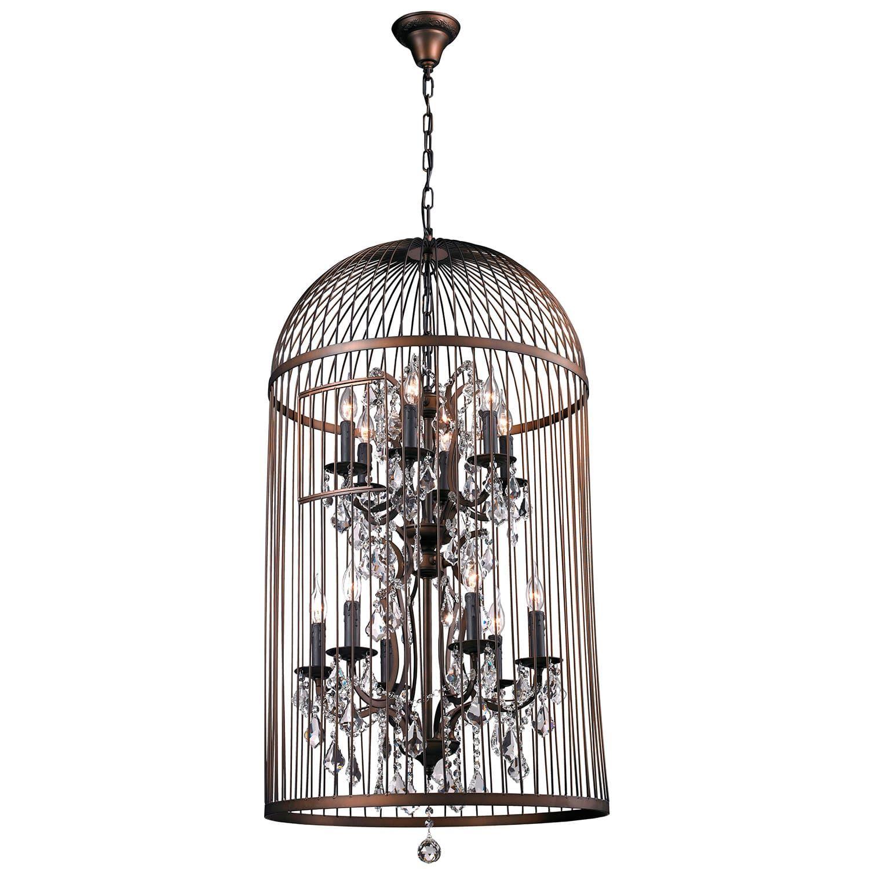 12 light Vintage Bird Cage Chandelier Vinatge Bird Cage