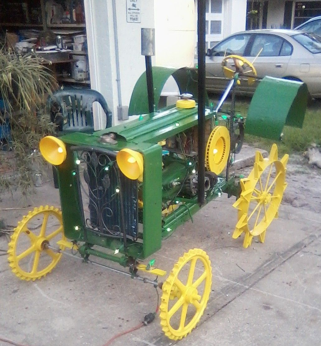 john deere was made using parts from an old celery planter, air