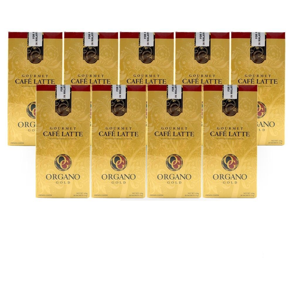 9 BOXES ORGANO GOLD GOURMET CAFE LATTE
