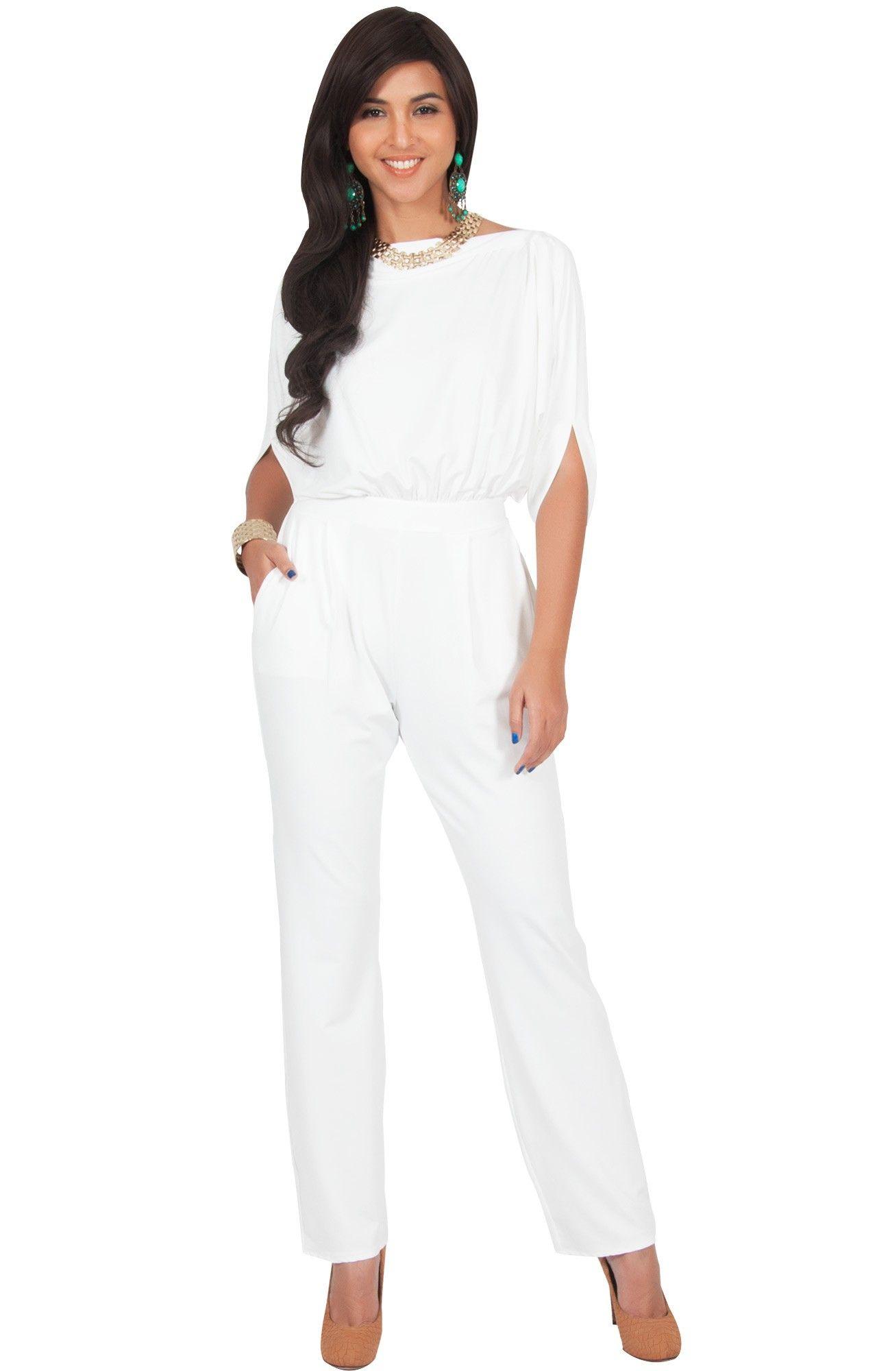 f69536d9ec7b TERESA - Dressy Jumpsuits Cocktail Batwing Sleeve Classy Formal in ...
