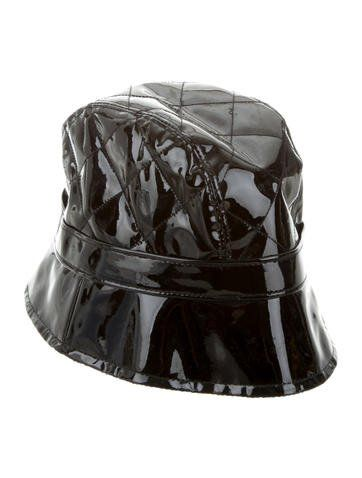 Burberry Patent Leather Bucket Hat 94e02a38874