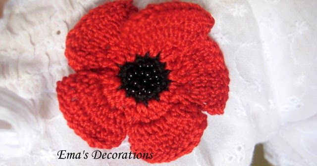 Crochet Poppy Pattern Make A Crochet Flower Brooch Red Poppy