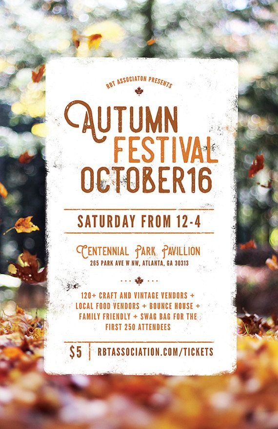 DIY Printable Fall Festival Flyer Template, Word Flyer Templates