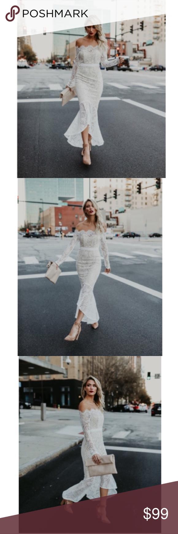 Vici White Elegant Lace Trumpet Dress Dresses Trumpet Dress Tight Wedding Dress [ 1740 x 580 Pixel ]