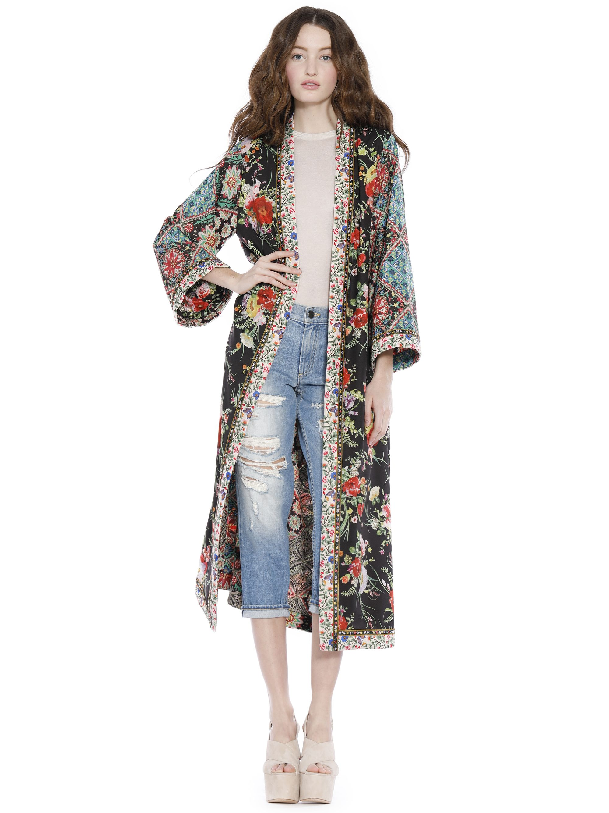 a6c7e77ca46 LYNN SIDE SLIT LONG KIMONO by Alice + Olivia | Whimsical Spring ...