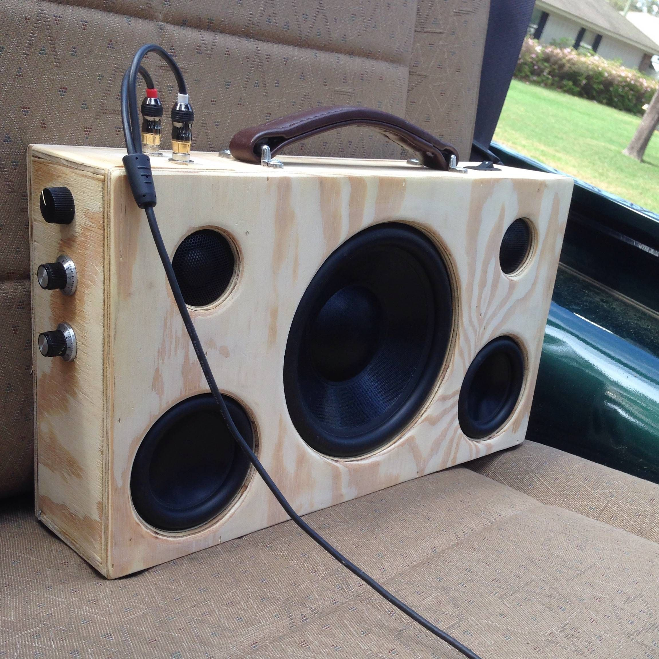 diy portable bluetooth speaker with subwoofer
