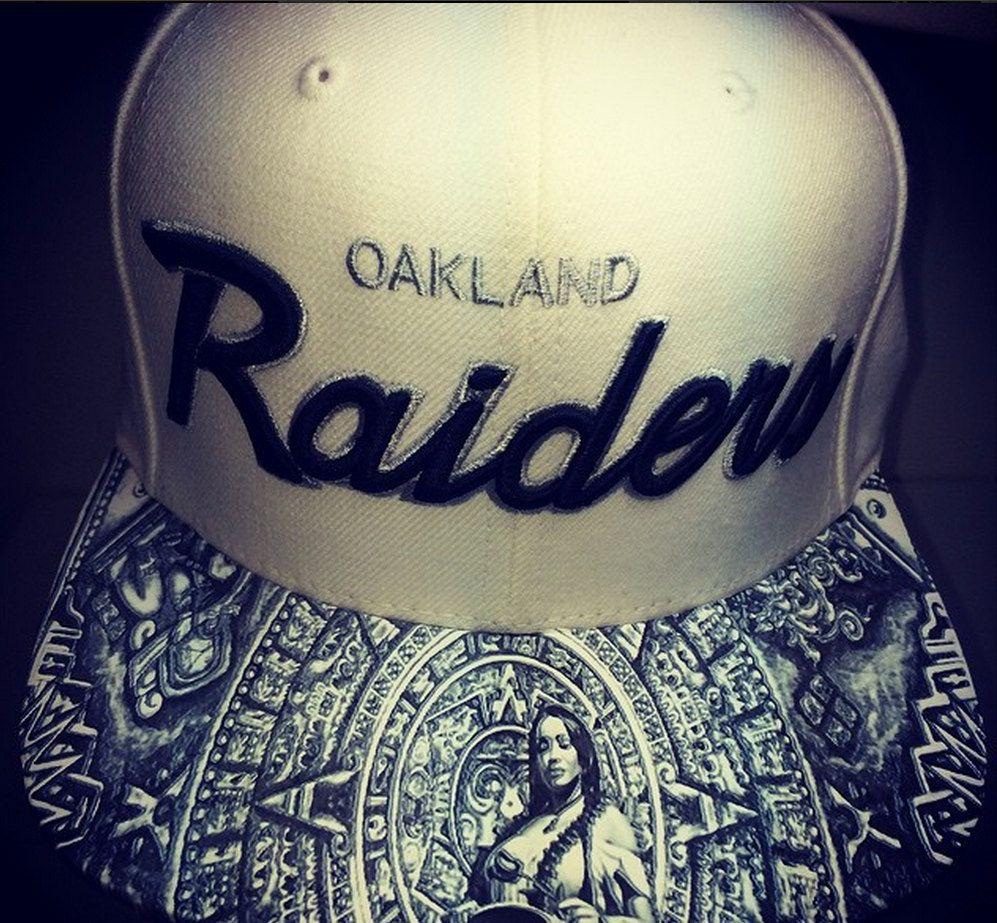 Oakland Raiders New Era Customized Brim by UrbanScholarApparel on Etsy