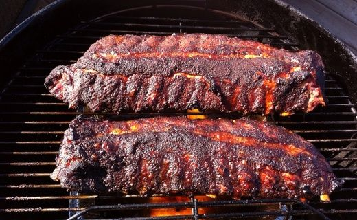 How To Smoke Baby Back Ribs On A Weber Kettle Grill Bbq Baby Back Ribs Ribs On Gas Grill Ribs On Grill