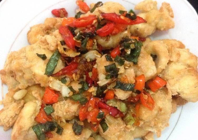 Resep Tahu Crispy Cabe Garam Food Crispy Chicken