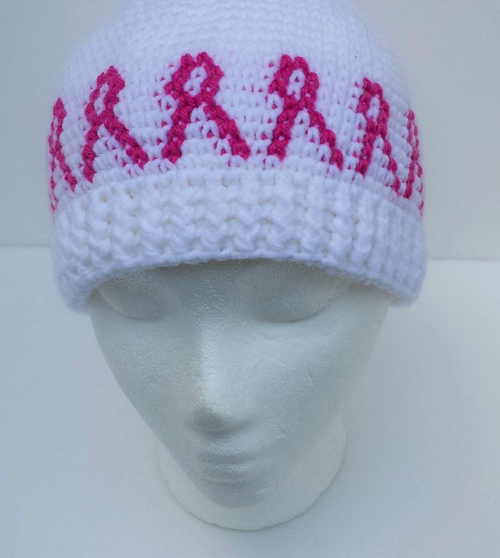 Pink Ribbon Chemo Hat Crochet Pattern - (almost) FREE pattern by ...