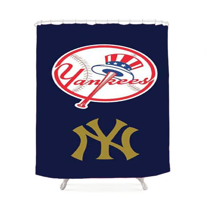 Ny Yankees Two Logos Shower Curtain