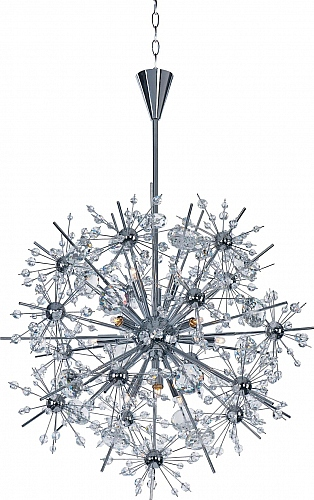 Maxim Lighting Lights   Maxim Lighting Chandelier Fixture Model 39745BCPC  Starfire 11 Light Chandelier In